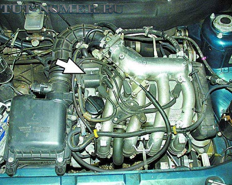 находится номер двигателя на ВАЗ 2112